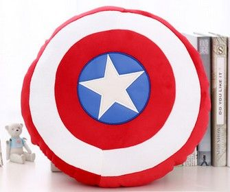 36cm Captain America 2 Shield Pillow Plush Toy Soft Stuffed Toy Doll With handle Christmas Gift Free Shipping