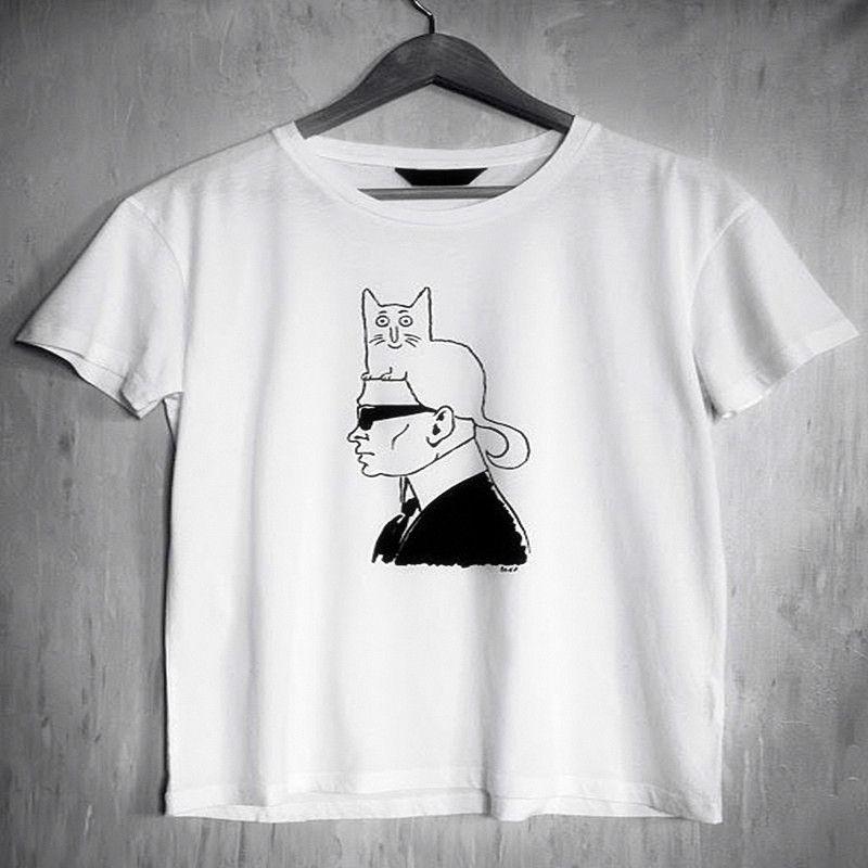 Femmes mode blanc t-shirt été nouveau Hip hop Top Tee décontracté longue taille marque vêtements hauts Street Wear col rond t-shirt