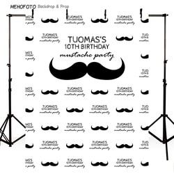 Handlebar Mustache Birthday Background Vinyl cloth High quality Computer print newborn baby photo backdrop