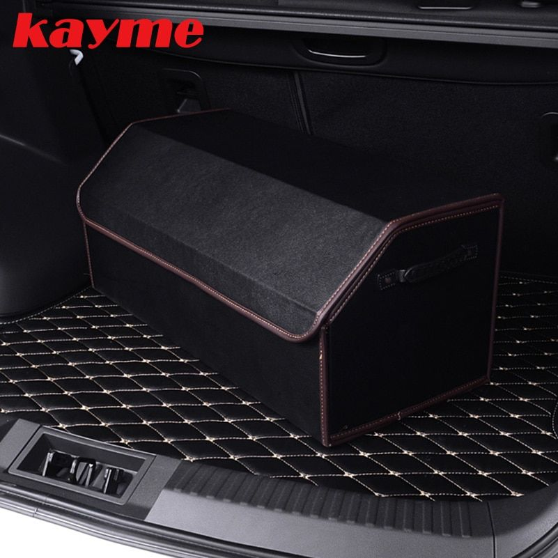 Kayme Car Trunk <font><b>Organizer</b></font> Stowing Tidying Auto Storage Box Car Trunk Bag Interior Accessories For Peugeot 3008 2008 Volvo S60