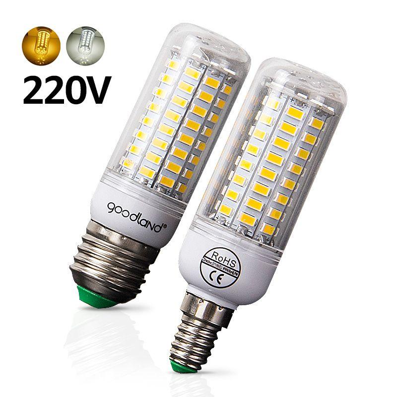 E27 LED Bulb E14 LED Lamp SMD5730 220V 230V LED Light 24 36 48 56 69 72LEDs Corn Light Chandelier Lighting for Home Decoration