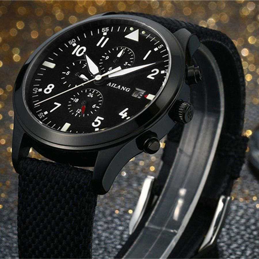 Men's Watches Luxury Branded Military Pilots Watch Automatic <font><b>Mechanical</b></font> Watch Men's Luminous Waterproof 50M Clock New