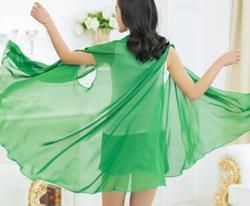 Nouveau style d'été mousseline de soie crème solaire foulards Variété châle serviettes de plage