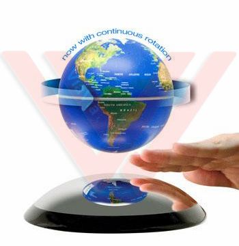 Wholesale Electronic Magnetic Floating Globe 6 inch Rotate, Anti-gravity Levitation Floating AUTO Rotate