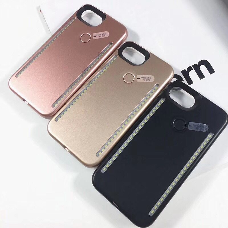3rd Generation LED Selfie Case For iPhone X XR Xs Max 6 6s 7 8 Plus Cover Protective Shell 1st G for Samsung Galaxy S6 S7 E S8