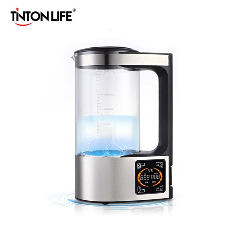 2L Reiche Wasserstoff Wasser Flasche Alkalische Wasser Ionisator Maschine Wasser filter Trinken Wasserstoff Wasser Generator