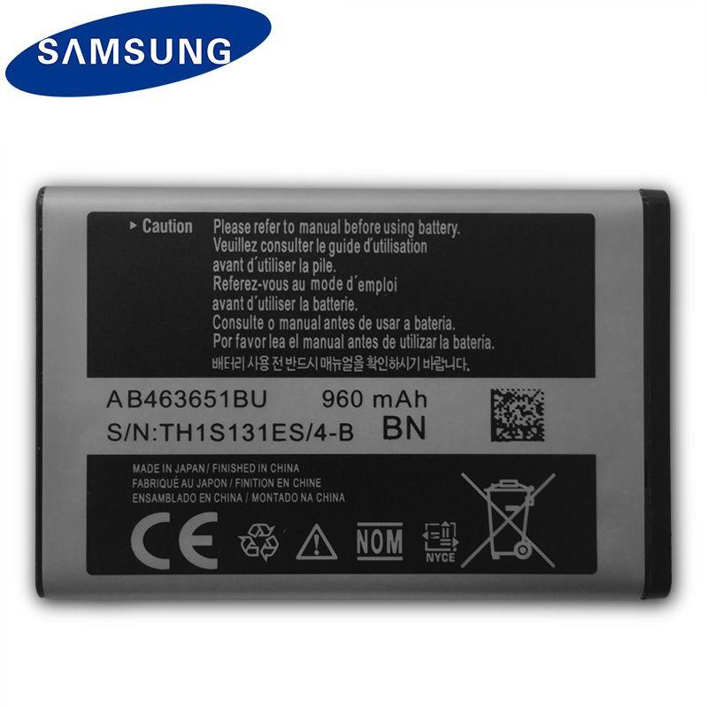 D'origine SAMSUNG AB463651BU Batterie Pour Samsung W559 S5620I S5630C S5560C C3370 C3200 C3518 J808 F339 S5296 C3322 L708E S5610