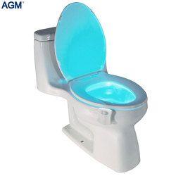 Intelligent Siège De Toilette Capteur de Mouvement PIR Lumière de Nuit 8 Couleurs Étanche Rétro-Éclairage pour Cuvette De Toilette LED Luminaria Lampe WC Veilleuse