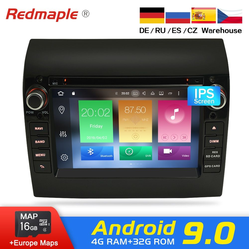 Android 9.0 Auto Radio DVD Player GPS Multimedia Stereo Für Fiat Ducato 2008-2015 Citroen Jumper Peugeot Boxer Video Navigation