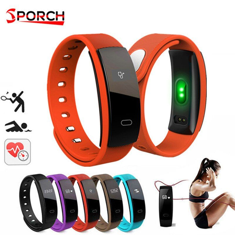 QS80 <font><b>Smart</b></font> Wristband Blood Pressure Heart Rate Monitor Waterproof Watches Wristband Pedometer Fitness Tracker For Android Ios