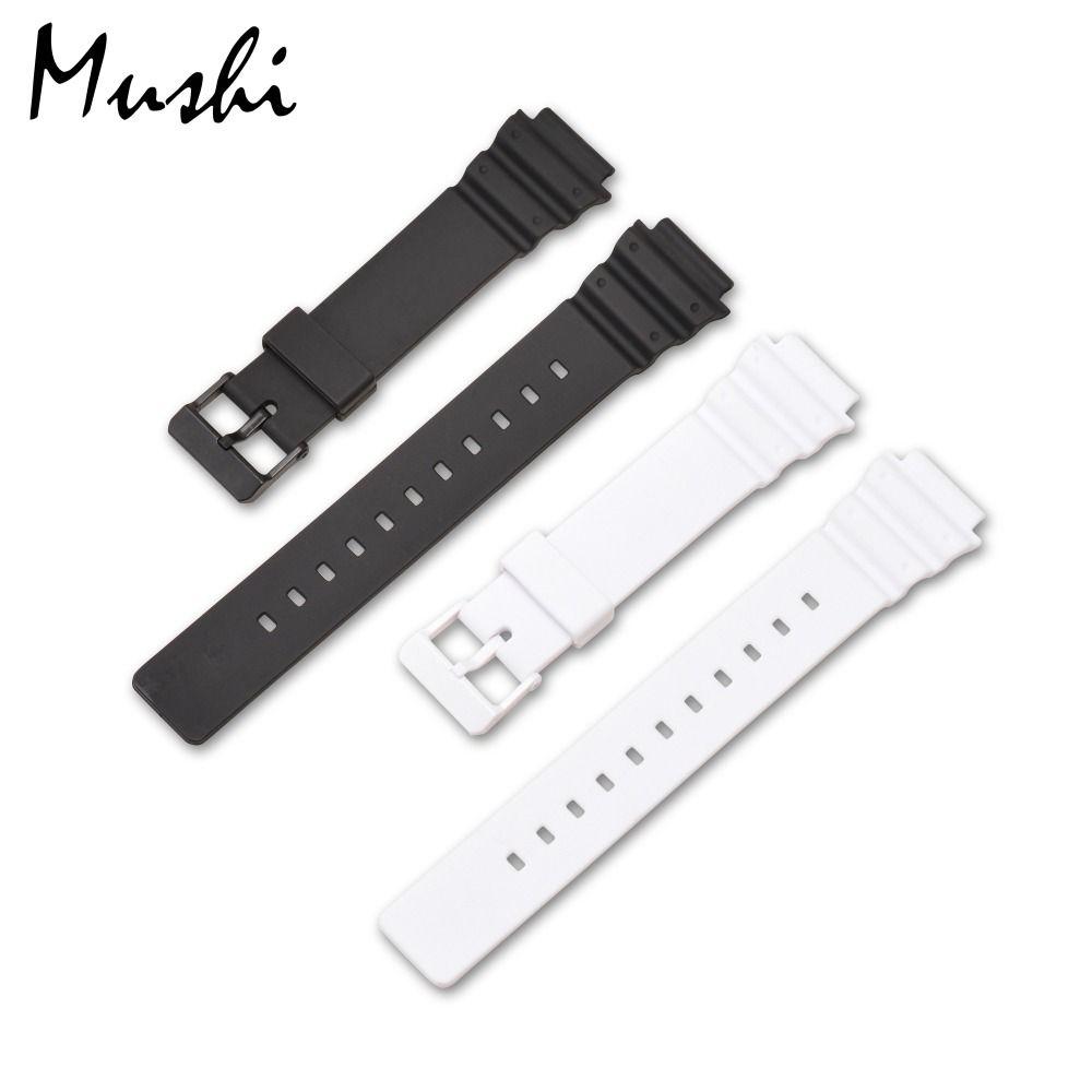 MS Uhrenarmband für Casio MRW-200H Schwarz Männer Armband Dornschließe armband Uhr Fall + Werkzeug