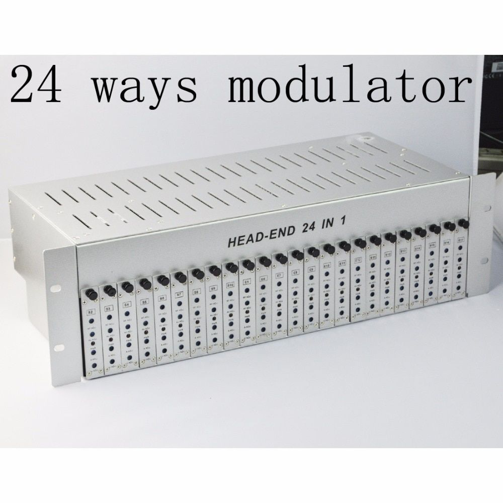 SK-24M 24 in 1 catv headend adjacent modulator CATV modulator for hotel/school/dormitory RF catv modulator