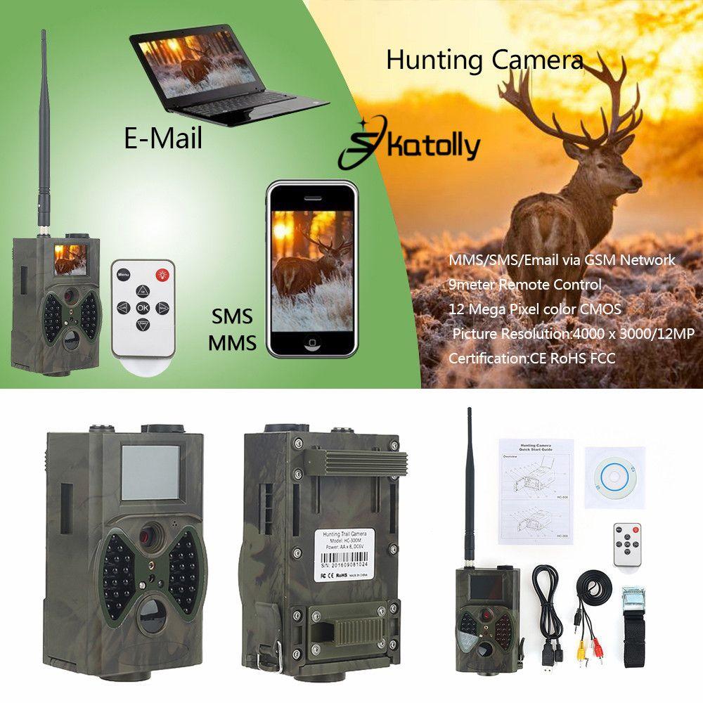 Skatolly HC300M Jagd Trail Kamera HC300M Full HD 12MP 1080 P Video Nachtsicht Scouting Infrarot MMS GPRS Multifunktionswerkzeuge