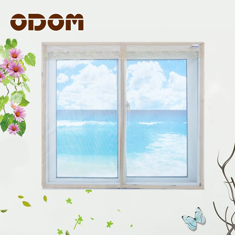 Одом москитная сетка Магнитная шторы Magic москитная сетка дверь экран Окно Чистая насекомых алюминиевые цепи занавес экран окна