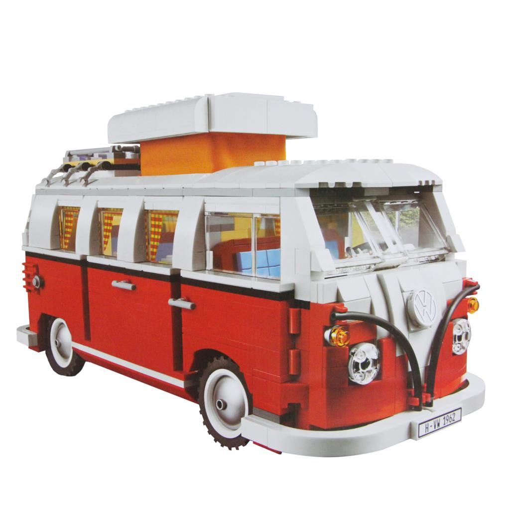 1354Pcs Create Series Creator Volkswagen T1 Camper Van Model Building Kit Blocks Bricks Toys Compatible with Legoings 10220