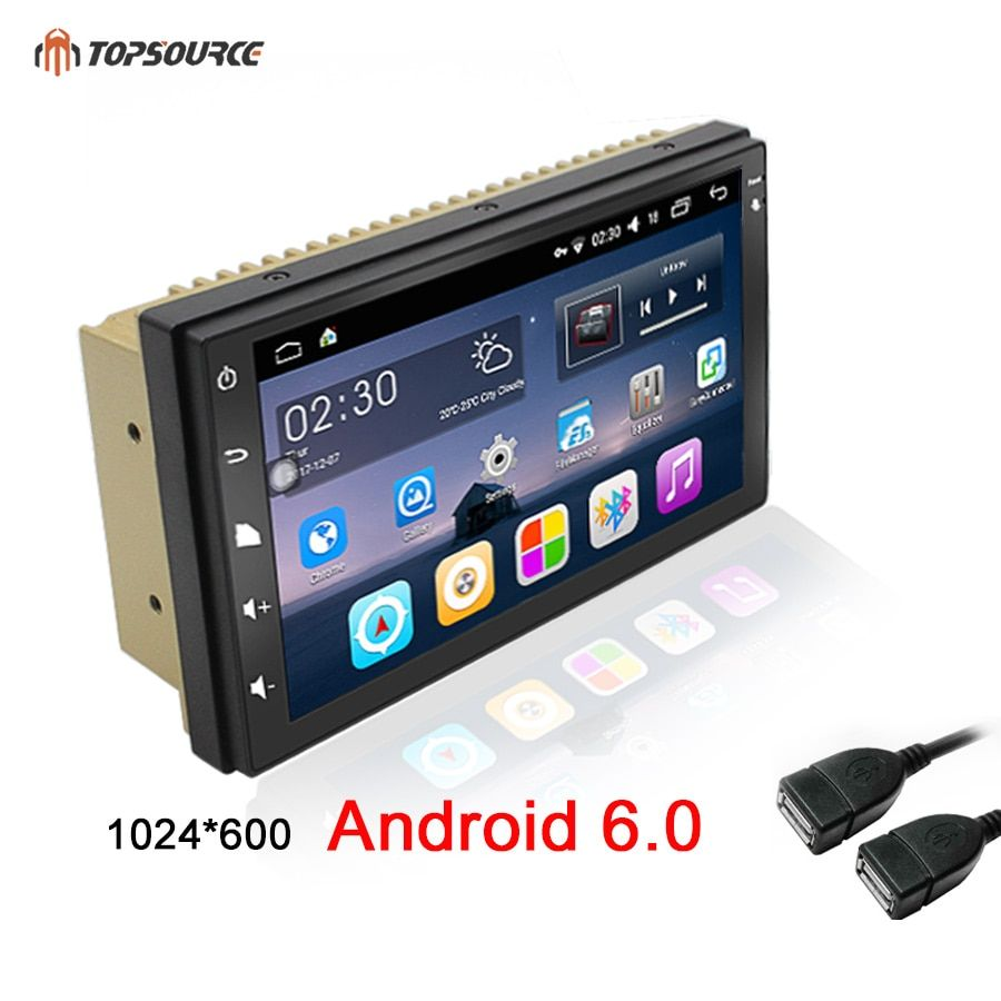 TOPSOURCE 7universal 2 din car radio gps android 6.0 2din Car DVD Player GPS NAVIGATION For VW Nissan TOYOTA Volkswagen <font><b>peugeot</b></font>