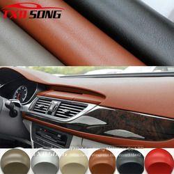 Premium cuero patrón PVC vinilo adhesivo Películas Adhesivos para auto car Cuerpo interior decoración vinilo WRAP car cuero Películas