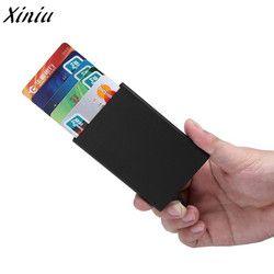 Xiniu Nouvelle mode Banque Paquet de Carte de Crédit Titulaire de la Carte Cas de Carte de Visite boîte de carte-cadeau En alliage D'aluminium porte carte bancaire