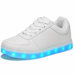 Светящаяся обувь с подсветкой для мальчиков и девочек, модная повседневная детская обувь с подсветкой, 7 цветов, USB зарядка, новые светящиеся...