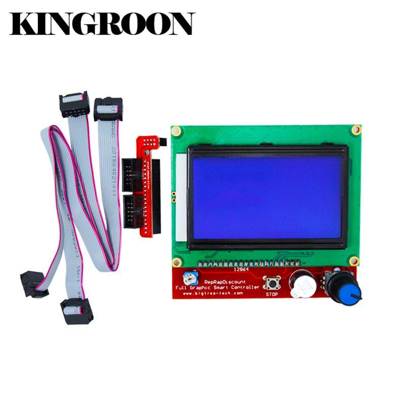 ПЛАТФОРМЫ 1.4 ЖК-дисплей Smart Управление материнской RAMPS1.4 Дисплей Мониторы синий Экран Запчасти Управление Лер Панель кабель платы 3D-принтер ...