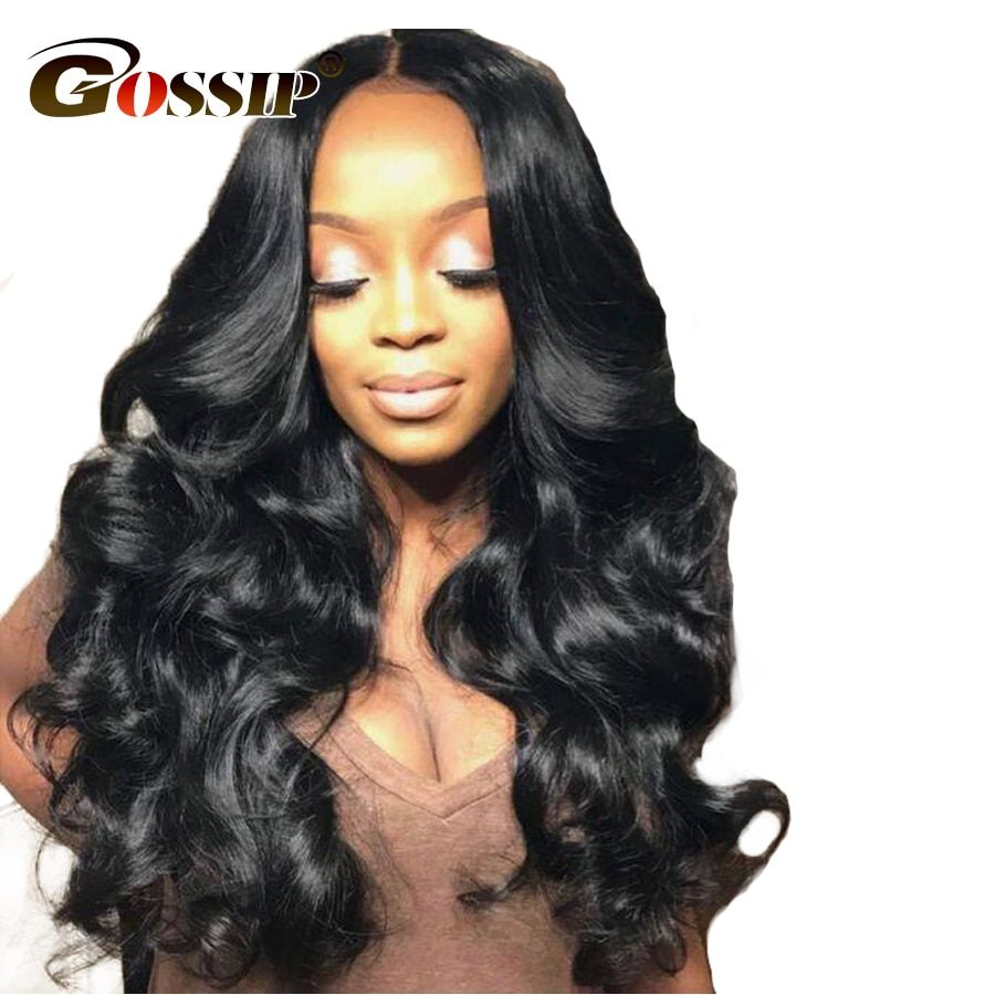 150 Brazilian Body Wave Lace Front Human Hair Wigs For Black Women Gossip Lace Front Wig With Baby Hair Non Remy Human Hair Wigs