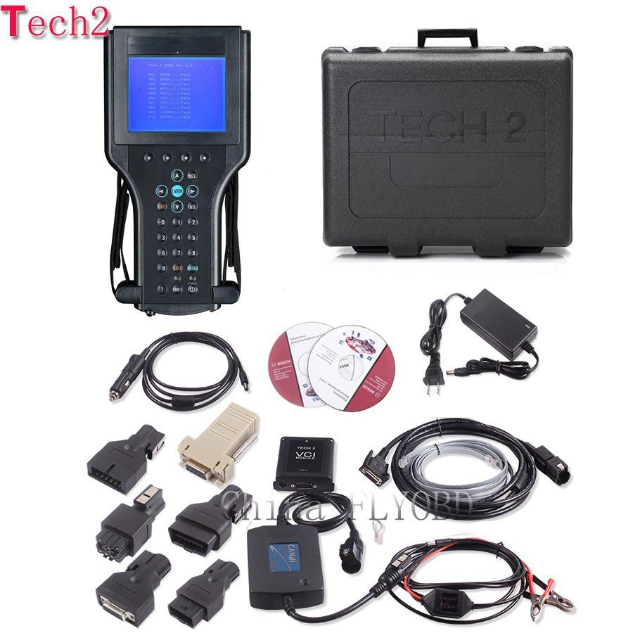 Top Qualität tech2 diagnose werkzeug mit 32 mb tech 2 software Speicher karte für 6 fahrzeuge der marke opel tech2 scanner mit kunststoff box