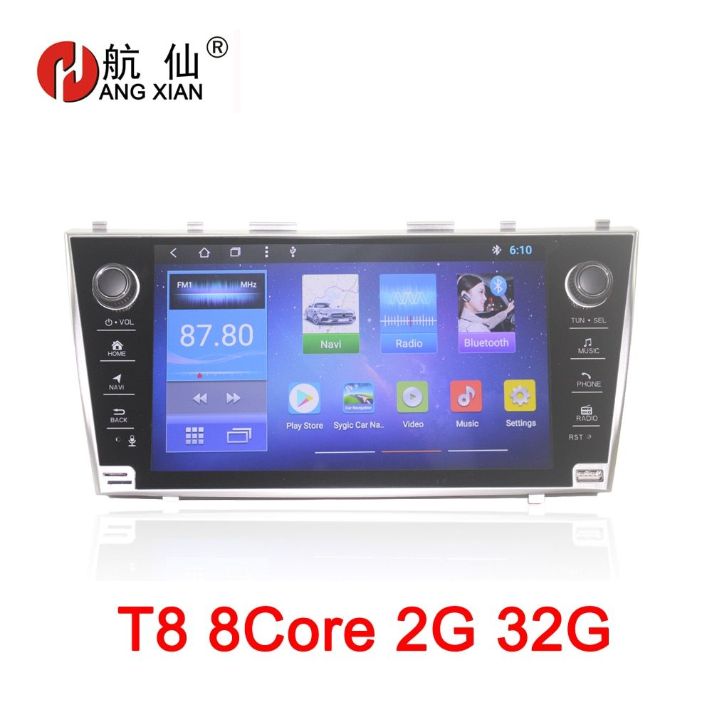 9 inch Android 8.1 Octa 8 Core Car radio for Toyota Camry AURION V40 2006-2011 Car DVD player with 2G RAM 32G ROM vehicle radio