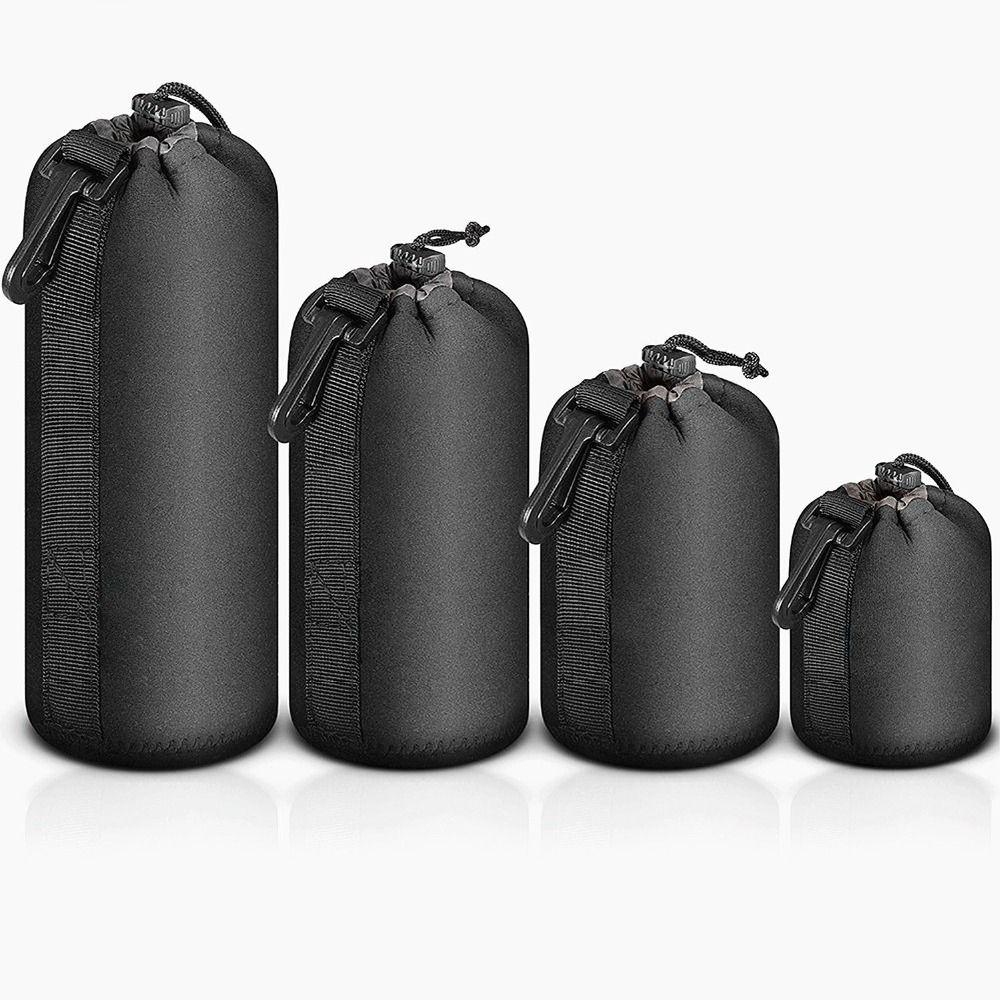 4 pièces S/M/L/XL sac pour appareil photo étui étanche sac néoprène protecteur souple pour Canon Nikon Sony Sigma Tamron accessoires d'objectif