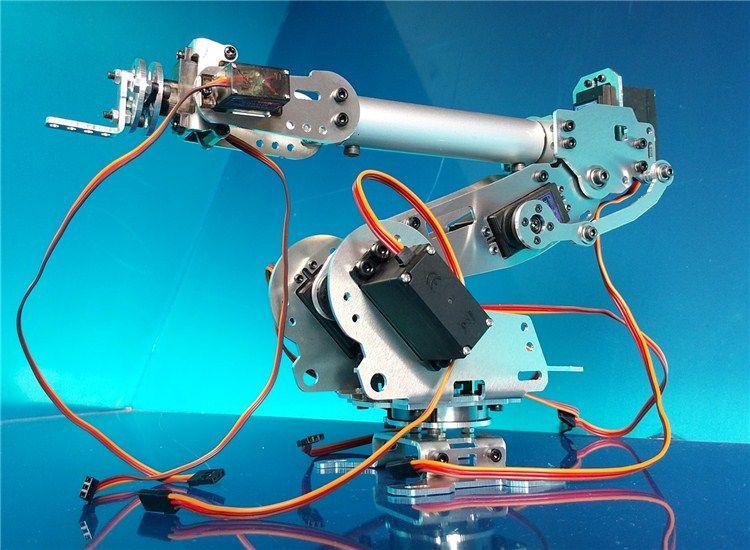 Abb Industrial Robot 798 Mechanical Arm 100% Aluminum Alloy Manipulator 6-Axis Robot arm Rack with 7 Servos
