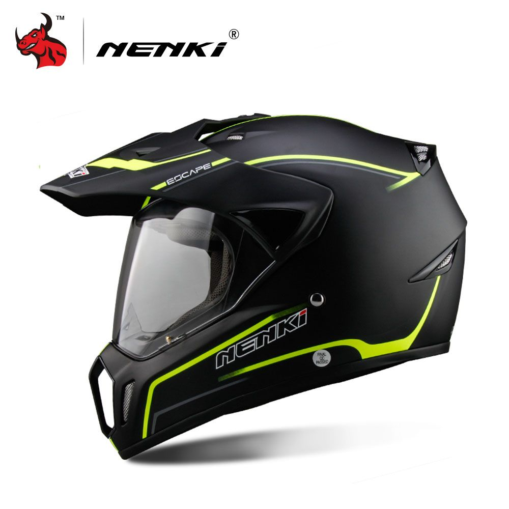 NENKI Full Face Motorcycle Helmet Motocross Helmet ATV Moto Helmet Cross Downhill Off-road Motorcycle Helmet DOT 5Color