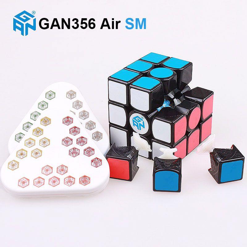 GAN 356 Air SM 3x3x3 master magnetic puzzle <font><b>magic</b></font> cube professional gans speed cube magico gan356 magnets toys for children