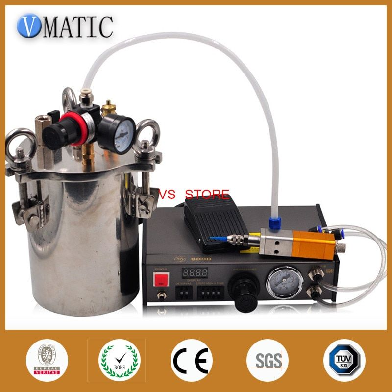 Free Shipping Automatic Dispenser & Thimble Style Valve & 5L Stainless Steel Pressure Tank Liquid Dispensing Equipment