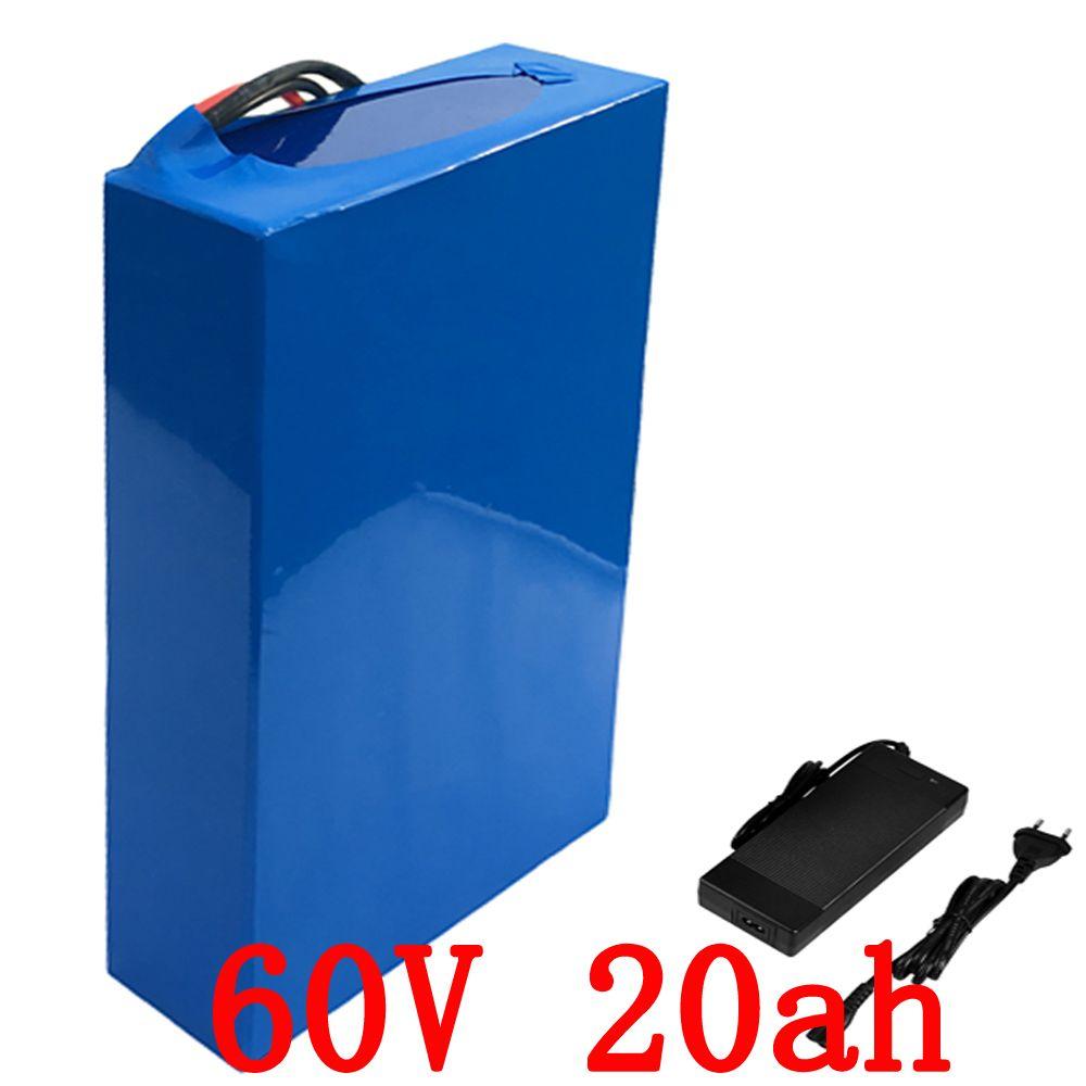 60 v 1500 watt Lithium-ionen batterie 60 v 20ah elektrische fahrrad batterie 60 v 20AH roller batterie mit 30A BMS + 67,2 v 2A Ladegerät duty freies