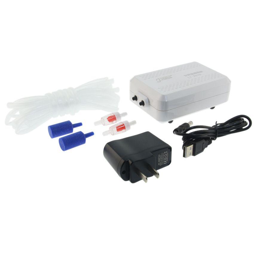 Aquarium pompe extérieure batterie au lithium portable pompe à oxygène aérateur compresseur poissons d'ornement air compresseur 110 V-240 V 4 W