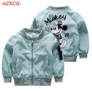 Mickey Veste Nouvelle Arrivée Vêtements Pour Bébé Filles Garçons Manteau de Bande Dessinée Imprimé Vol veste Automne Enfants Survêtement Enfants Vêtements
