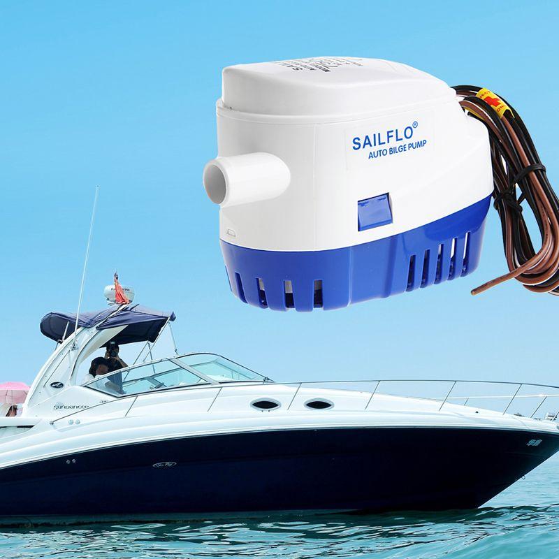 1100GPH 12 V bateau Marine automatique Submersible cale Auto pompe à eau flotteur interrupteur pompes