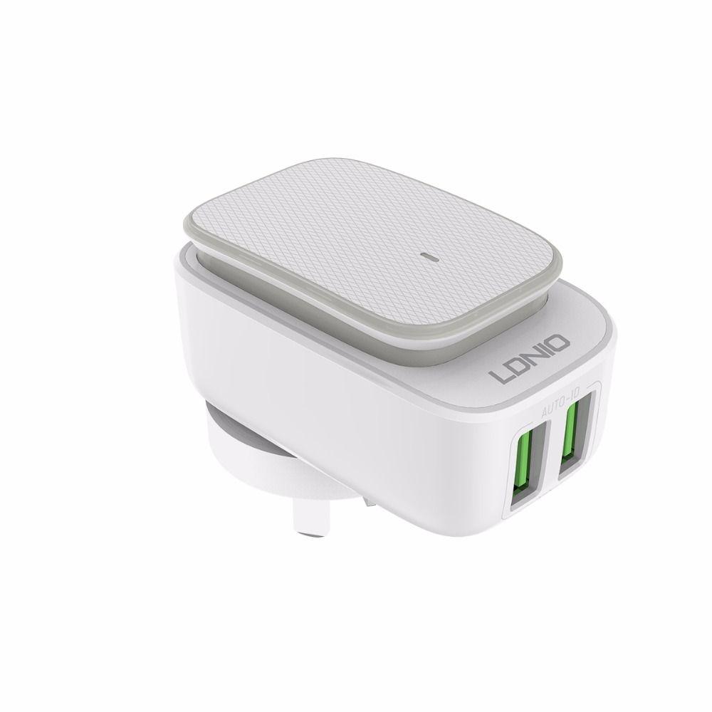 LDNIO A2205 Double USB Chargeur Mural Avec LED Lumière Pour Universal Voyage Adaptateur Pour Mobile Téléphone Chargeur pour iPhone