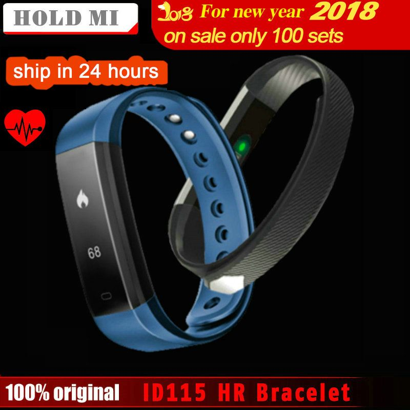 Hold Mi Smart Band ID115 HR Bluetooth Wristband Heart Rate Monitor Fitness Tracker <font><b>Pedometer</b></font> Bracelet For Phone