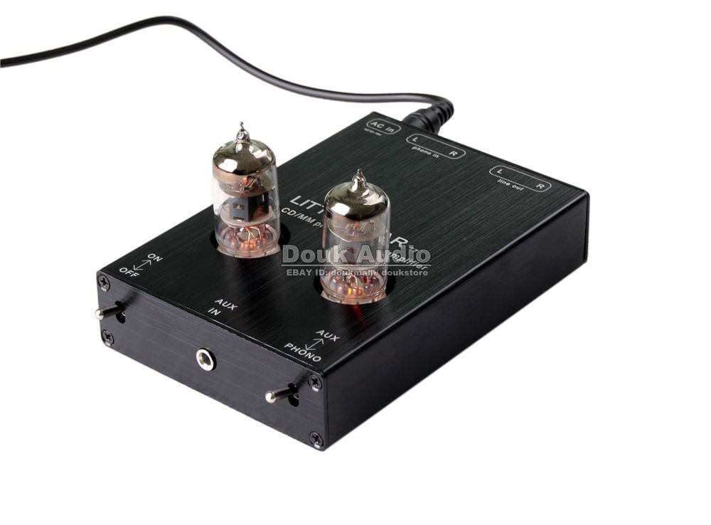 Hi-Fi 6J1 Valve Tube Phono Stage AUX & MM RIAA Turntable Phonograph Preamplifier Stereo Pre-Amp