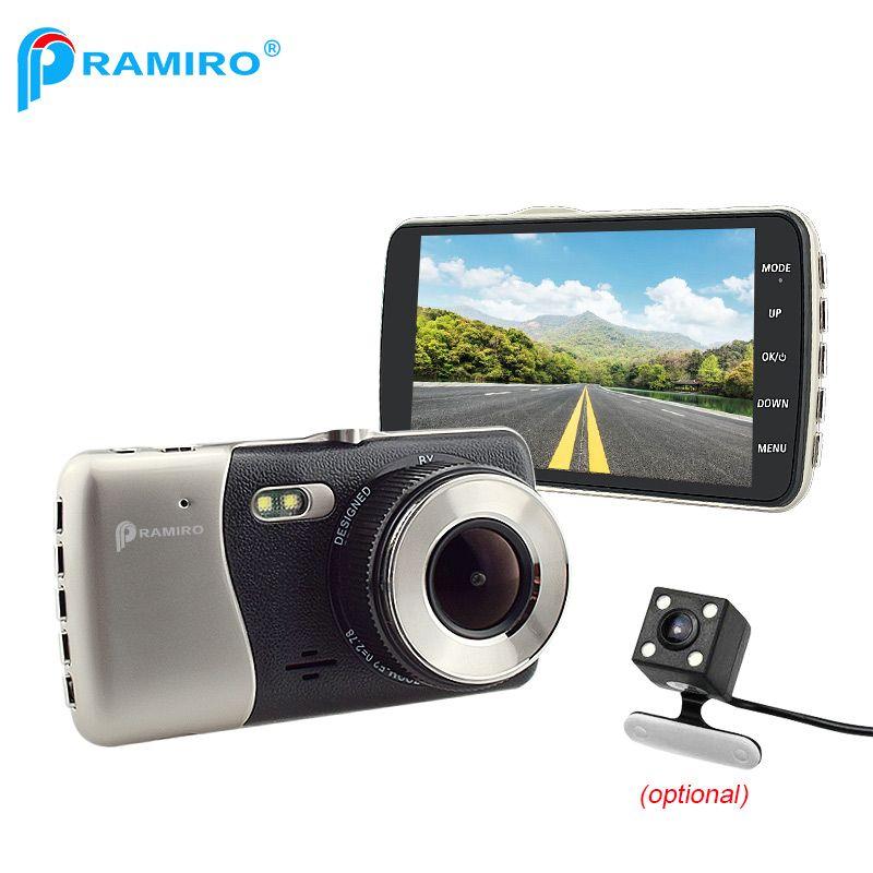 PRAMIRO Original FHD 1080P Dash Cam dual lens camera Novatek96658 car cams T810plus 170 Degree with WDR function video recorder