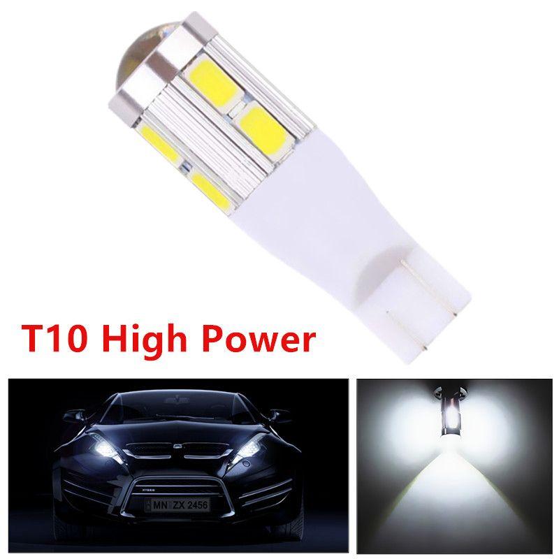 T10 Samsung 5630 излучатель высокой Мощность лампы 10 светодиодный проектор DRL Лампочки ксеноновые Белый T15 168 921 W5W Внутреннее освещение 12 В