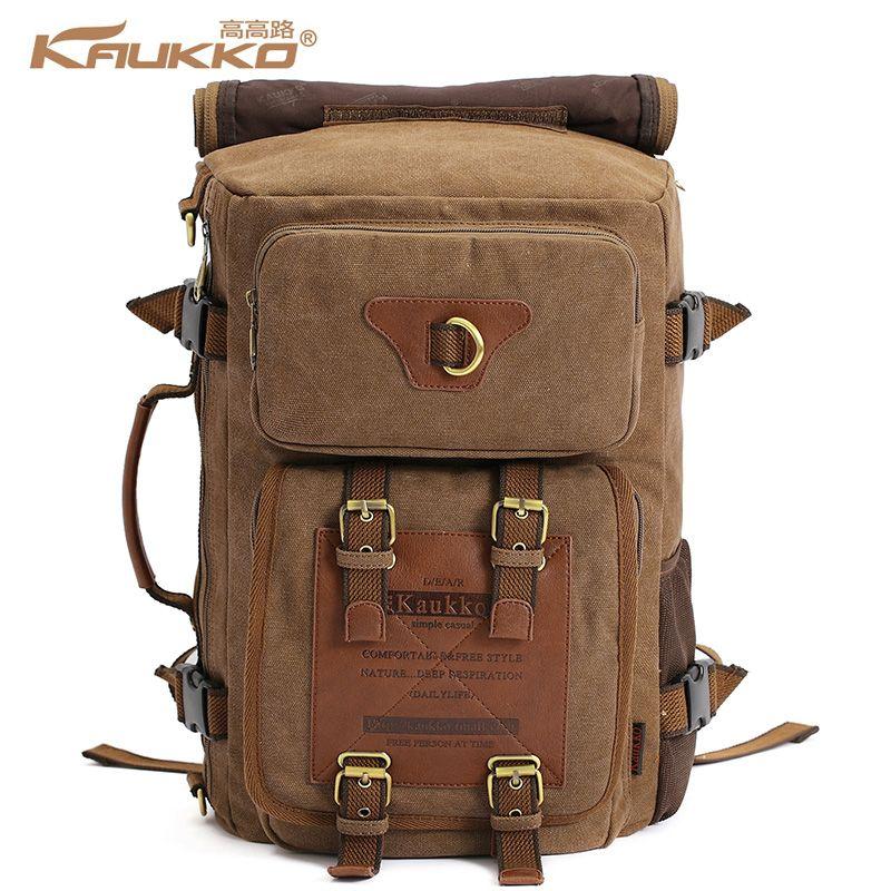 Marke Stilvolle Reise New vintage rucksack canvas backpack <font><b>leisure</b></font> travel schoolbag unisex laptop backpacks men backpack male