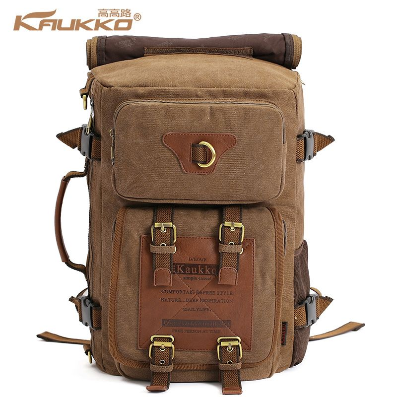 Marke Stilvolle Reise New vintage rucksack canvas backpack leisure travel schoolbag unisex <font><b>laptop</b></font> backpacks men backpack male