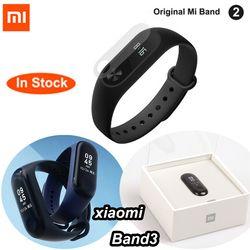 D'origine Xiaomi Mi Bande 2 Mi Bande 3 Avec ÉCRAN OLED touchpad Intelligent fréquence cardiaque Fitness Bluetooth Bracelet Bracelet