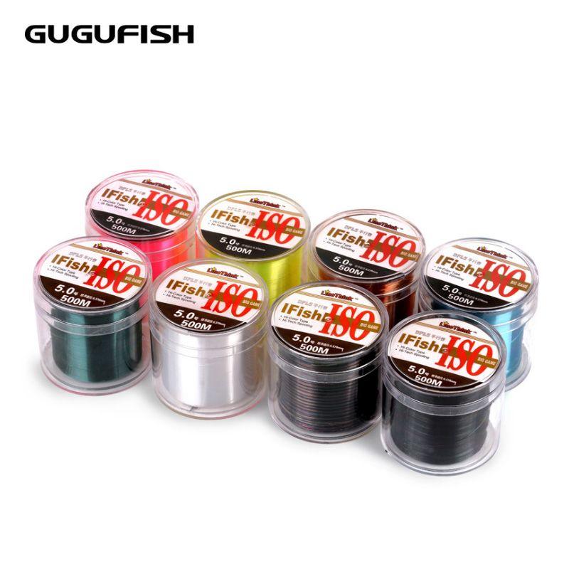 Gugufish импортируется из лески 500 м основной линии нейлоновая нить материал Пледы лески 1lb-30lb