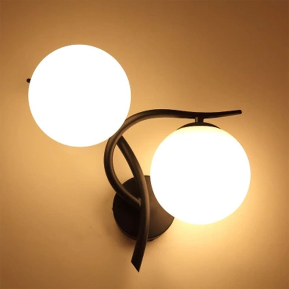 Led Wall Lamp Wall Mounted Bedside Lamps Wall Mounted Bedside Reading Lamps Stairs Light Modern Glass Sconces 110V-220V