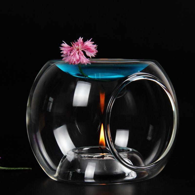 PINNY verre brûleur à huile de haute qualité bougie aromathérapie lampe à huile cadeaux et artisanat décorations pour la maison arôme four