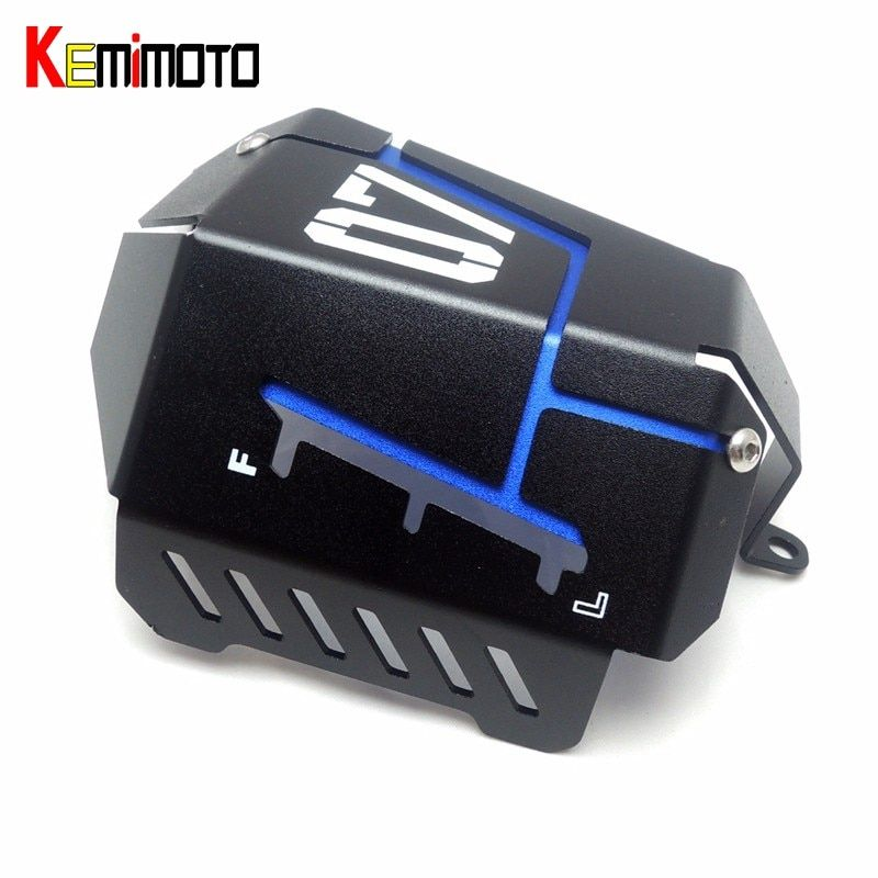 KEMiMOTO MT07 FZ07 Coolant Recovery Tank Shielding Cover For Yamaha MT-07 FZ-07 MT 07 FZ 07 2014 2015 2016 2017