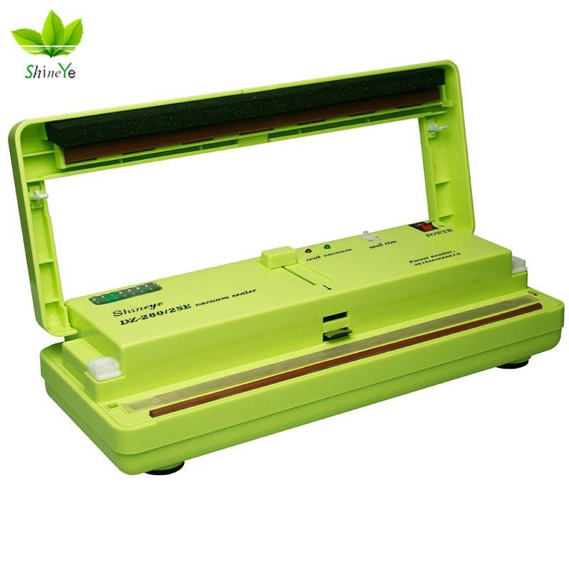 ShineYe Vacuum Sealer Packaging Household Food Machine Film Sealer Vacuum Packer Including 10Pcs Bags Free DZ-280/2SE