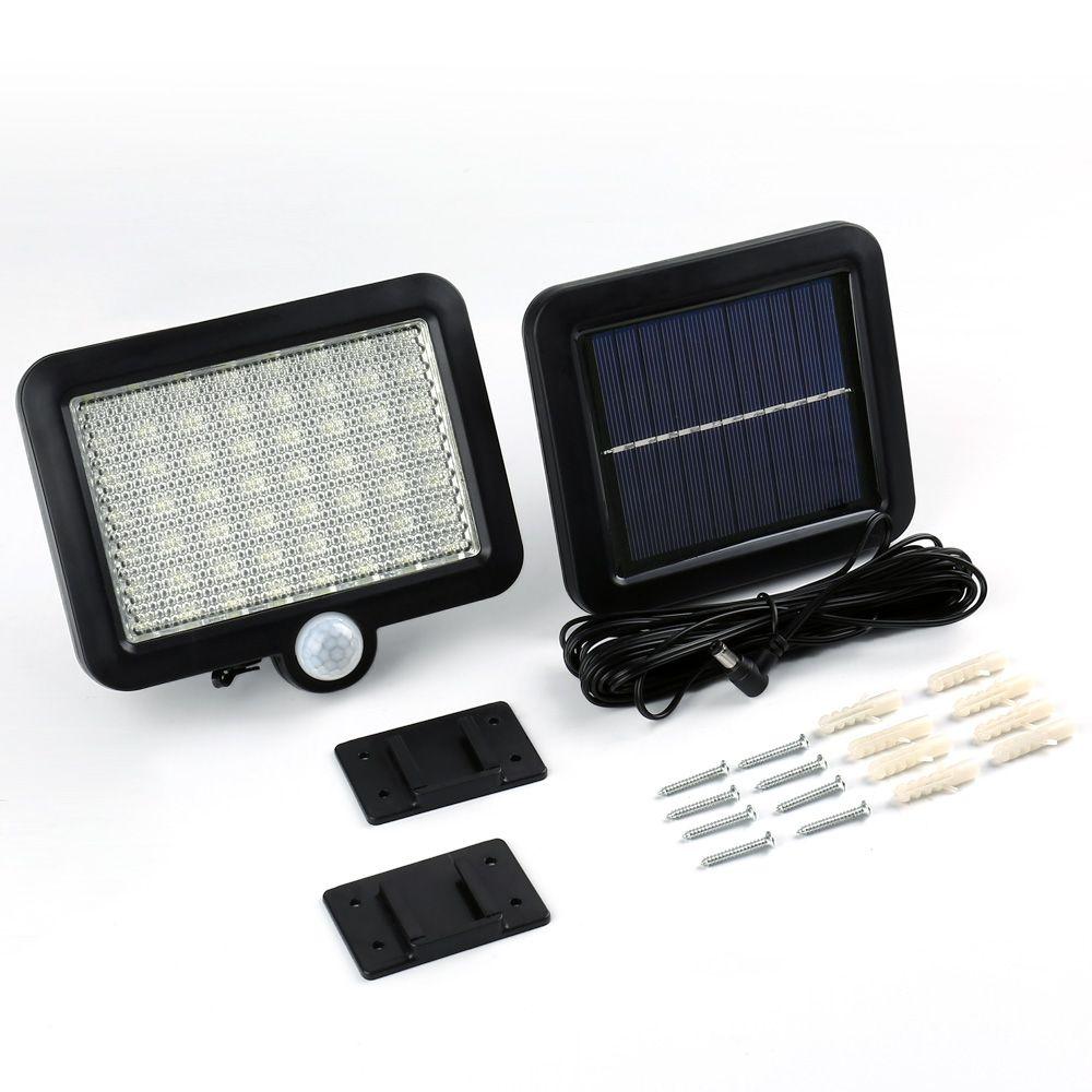 Qedertek 56 LED Solar Motion Detection Wall Light Solar Led Powered Garden Lawn Lights Outdoor Infrared Sensor Patio Light